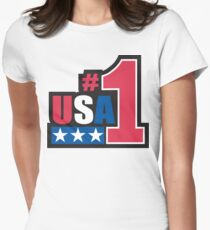 Veteran's Day USA #1 T-Shirt Womens Fitted T-Shirt