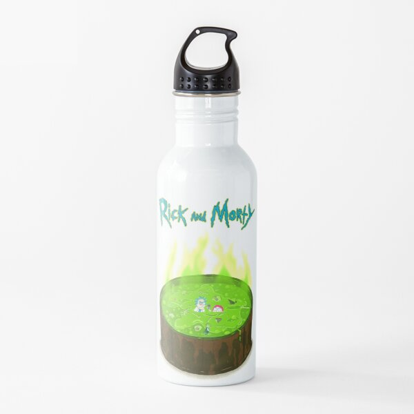 Rick and Morty in a Vat of Acid Water Bottle