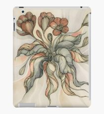 Vintage Bridal Bouquet.Hand drawn watercolor and ink drawing iPad Case/Skin