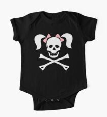 """Halloween """"Girl Sheleton With Pink Bows"""" T-Shirt One Piece - Short Sleeve"""