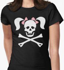 "Halloween ""Girl Sheleton With Pink Bows"" T-Shirt T-Shirt"