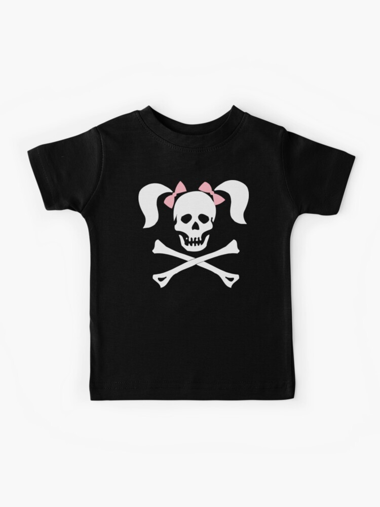 Halloween Pink Skull and Bow White Toddler T-Shirt