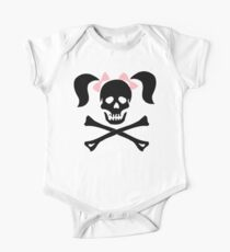 """Halloween """"Girl Skeleton With Pink Bows"""" T-Shirt One Piece - Short Sleeve"""