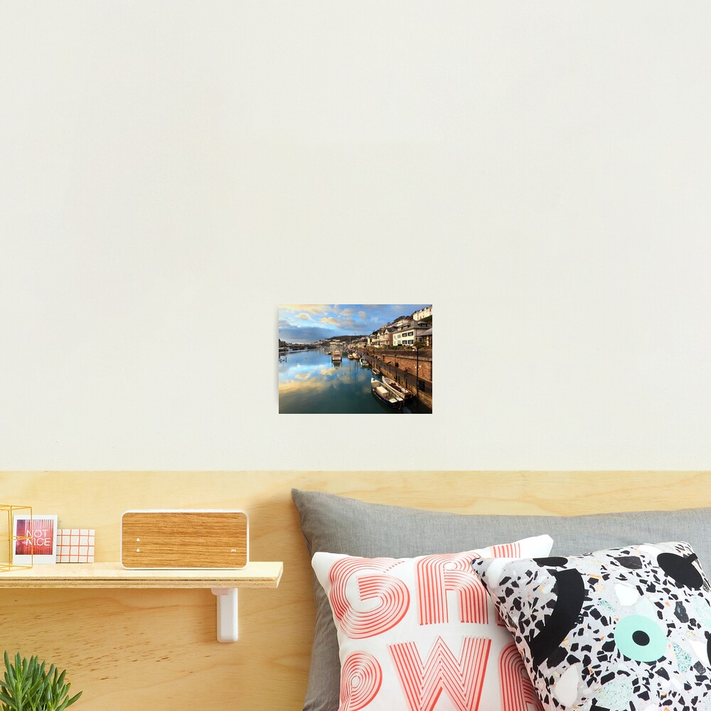 Sunrise Reflections (Looe) Photographic Print