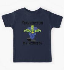 """Halloween """"Frankenstein Is My Homeboy"""" T-Shirt Kids Clothes"""
