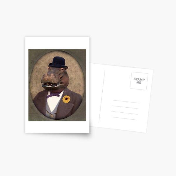 Hippo Hippopotamus Art - Mr. George E. Worthington Postcard
