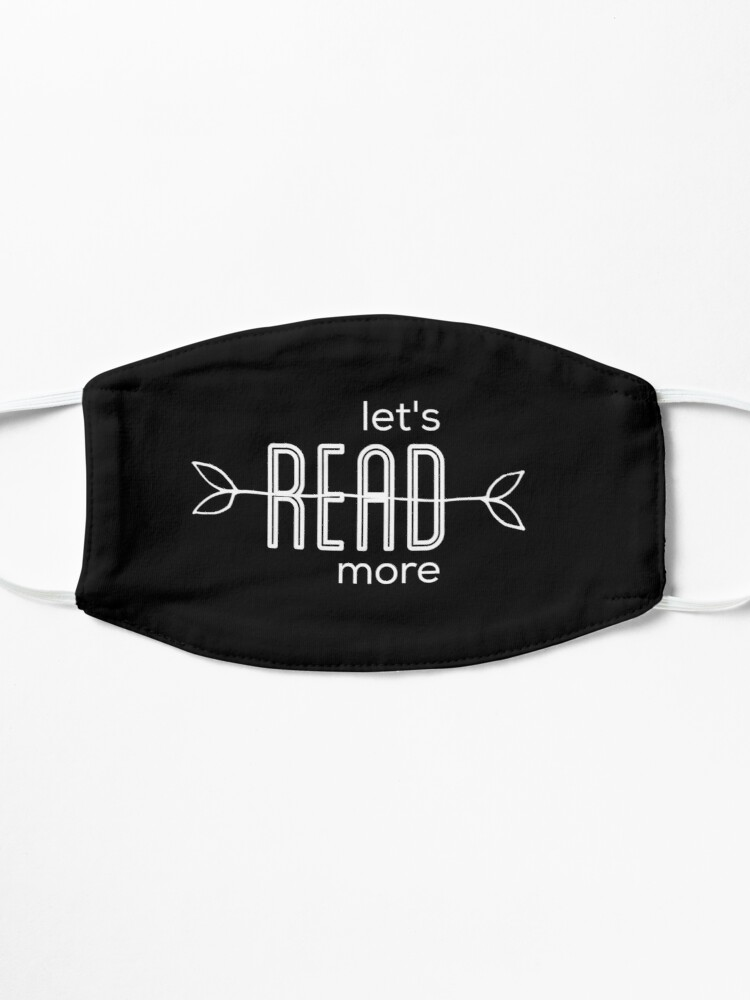 Alternate view of Let's read more   book lovers Mask