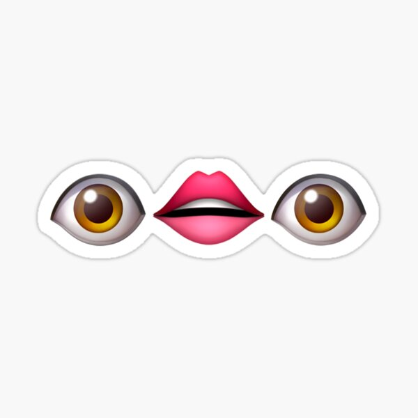 Eyes and Mouth Emoji Sticker