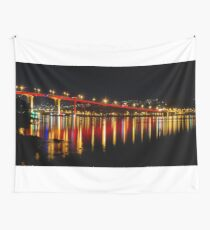 Red Bridge Wall Tapestry