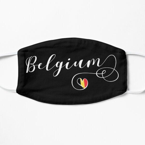 Coeur Belgique Autocollant, Drapeau Belge, Autocollant Belge, Belgique Tasse Masque sans plis