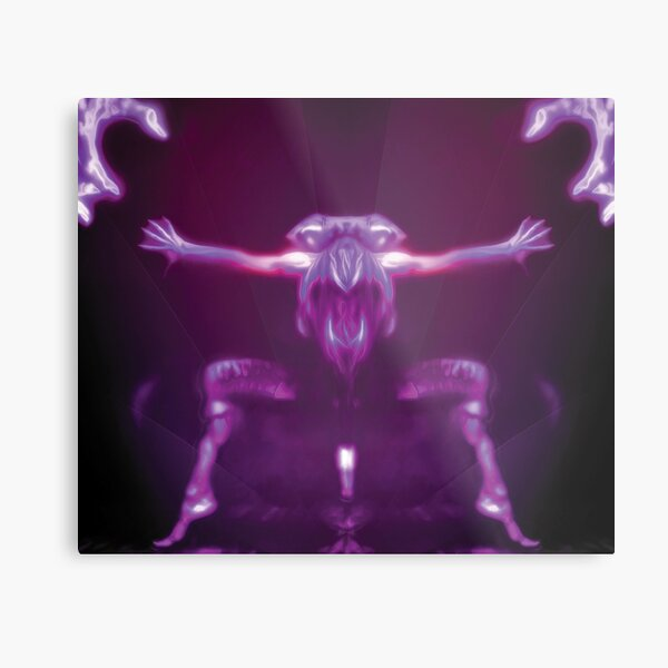 Trapped In Motion Fantasy Artwork Metal Print