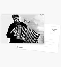 accordion player Postcards