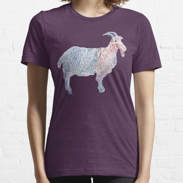Colorful Watercolor Goat Essential T-Shirt