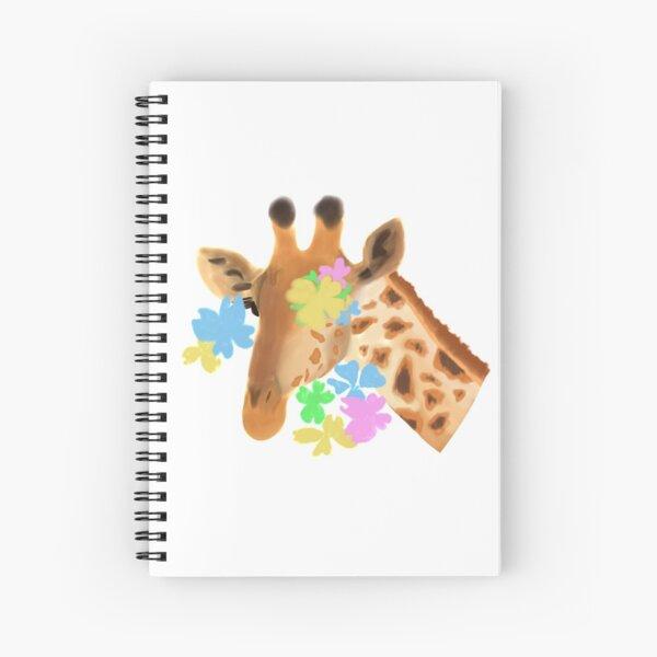 Flower Giraffe Spiral Notebook