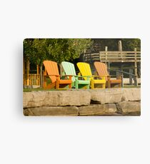 Sunny Chairs Metal Print