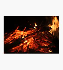 Our Last Fire This Winter Photographic Print