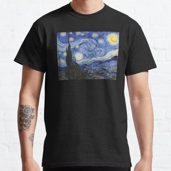 Starry Night Gifts - Vincent Van Gogh Classic Masterpiece Painting Gift Ideas for Art Lovers of Fine Classical Artwork from Artist Classic T-Shirt