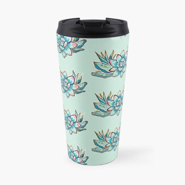Colorful Echeveria Travel Mug