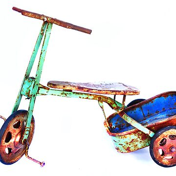cool retro green trike by markpiovesan
