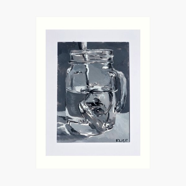 Glass and spoon picture reference study Art Print