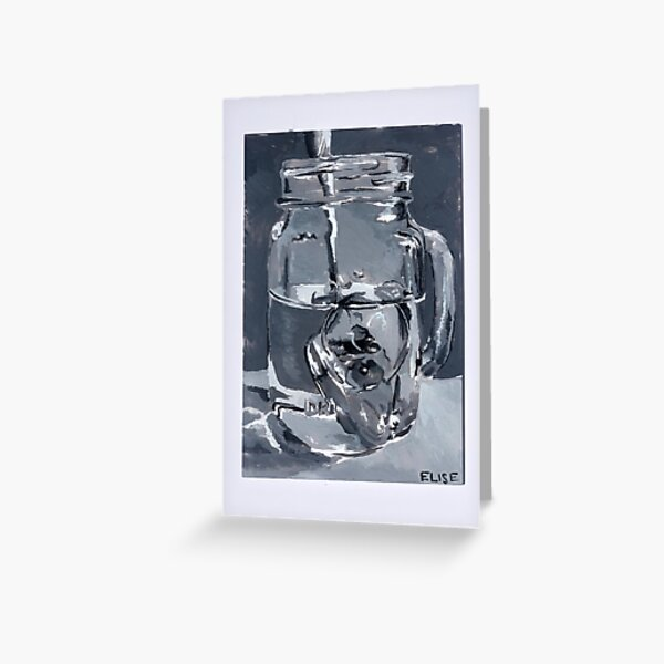 Glass and spoon picture reference study Greeting Card