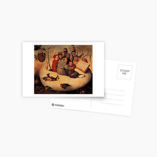 Concert in the Egg Painting by Hieronymus Bosch Postcard