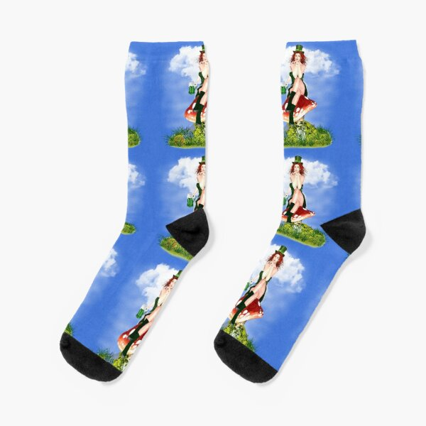 St. Patrick´s Day Design Red Pat Socken