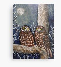 Owl Moon Metal Print