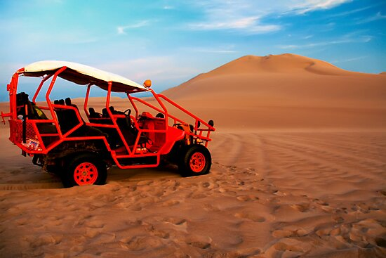 Dune buggy in Peruvian desert by kmatm
