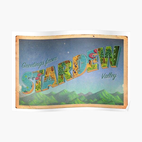 Stardew Valley Vintage Postcard Poster
