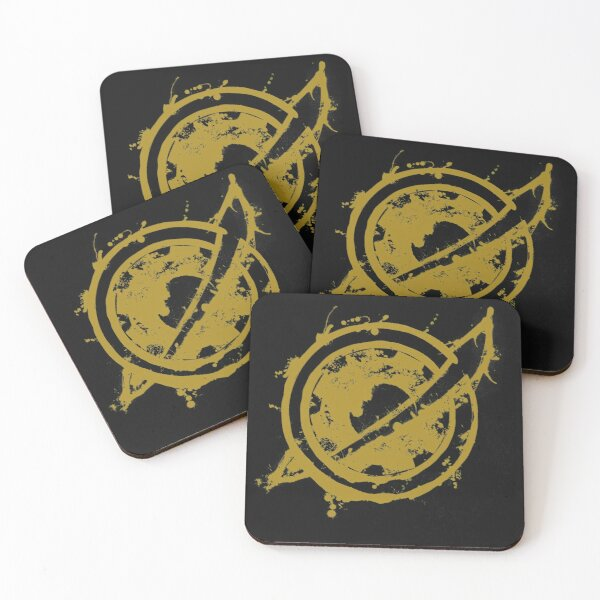 STEINS GATE: Future Gadget Lab logo SPLASH Coasters (Set of 4)
