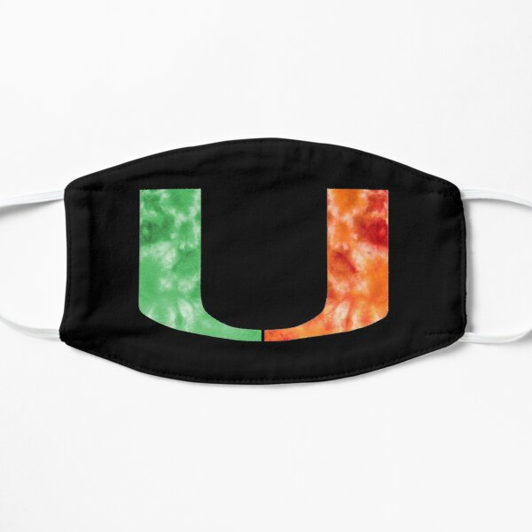 University of Miami Tie Dyed  Flat Mask