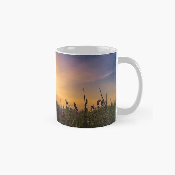 Sunset on the wheat field Classic Mug