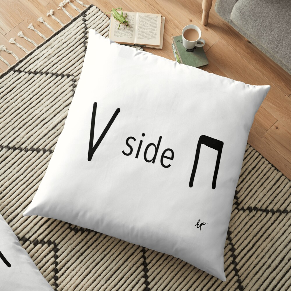 Upside down - bow notation for string musicians Floor Pillow