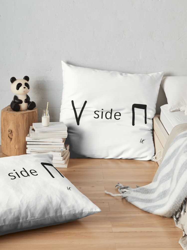 Alternate view of Upside down - bow notation for string musicians Floor Pillow