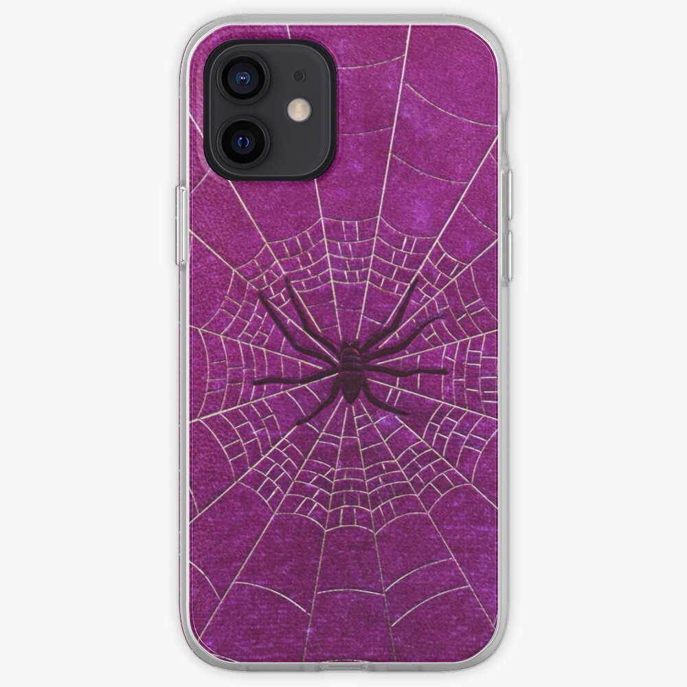 The Spiderweb Book in Pink iPhone Case & Cover