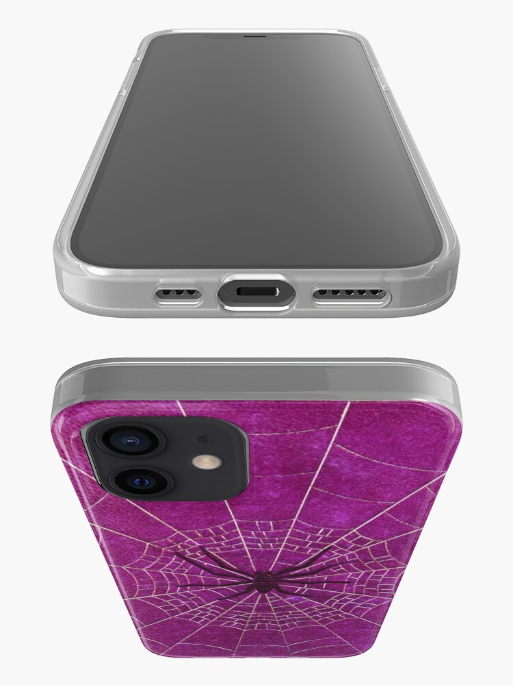 Alternate view of The Spiderweb Book in Pink iPhone Case & Cover