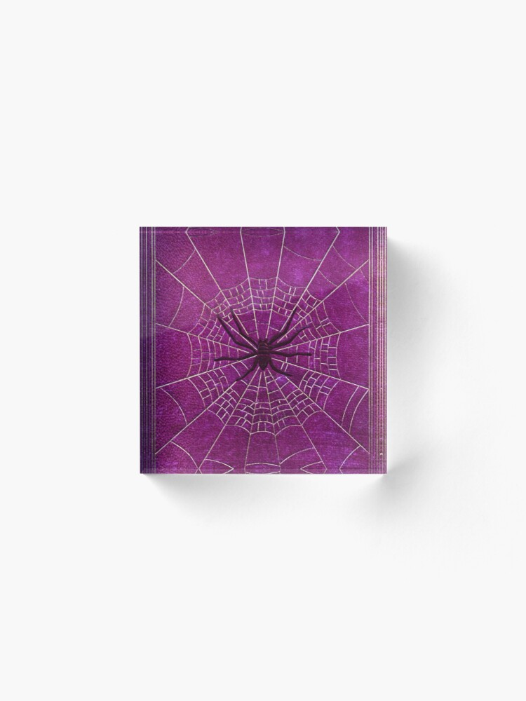 Alternate view of The Spiderweb Book in Pink Acrylic Block