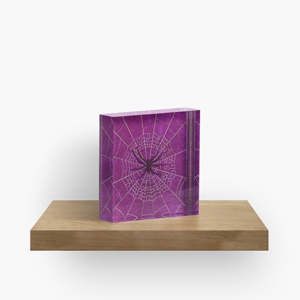 The Spiderweb Book in Pink Acrylic Block