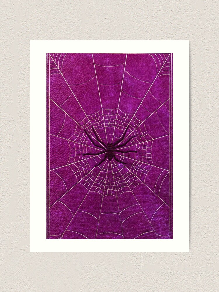 Alternate view of The Spiderweb Book in Pink Art Print