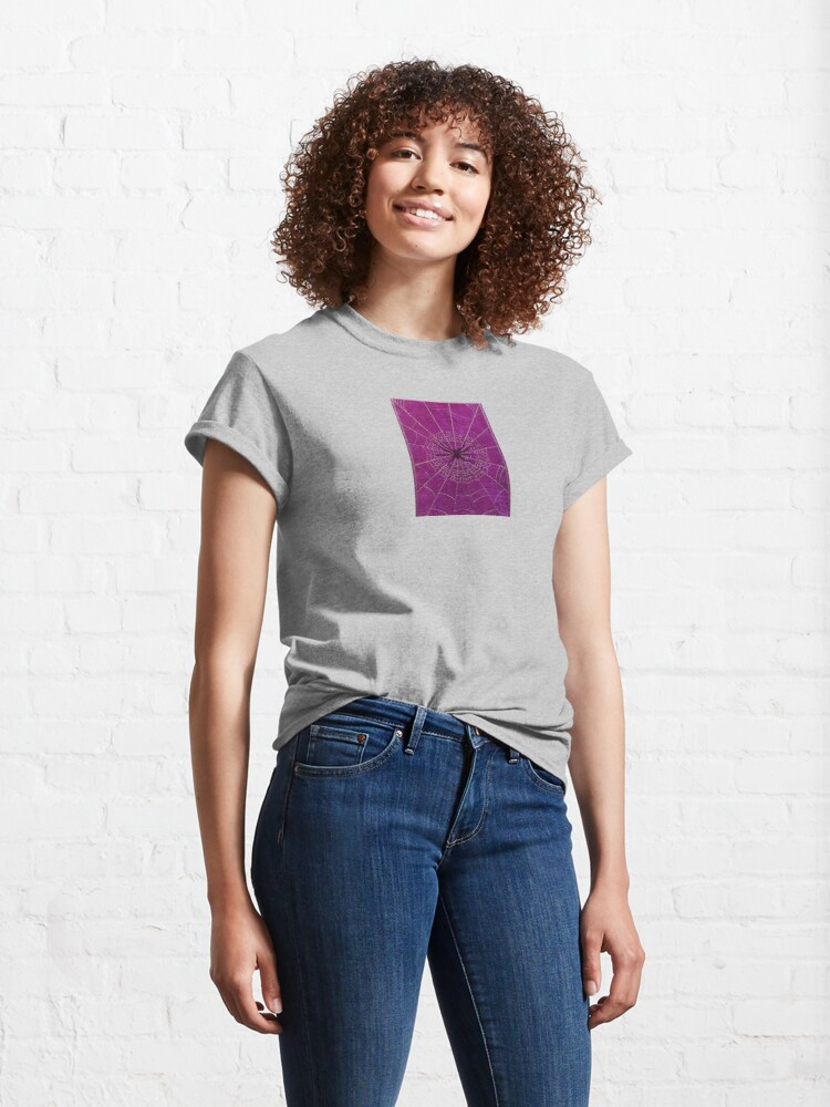 Alternate view of The Spiderweb Book in Pink Classic T-Shirt