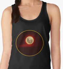 Red Moon with cloud Women's Tank Top