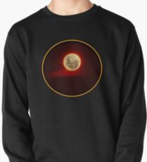 Red Moon with cloud Pullover