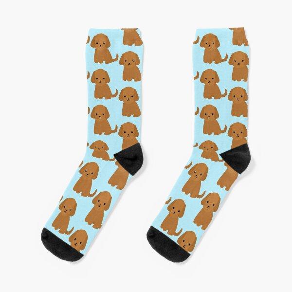 Hungarian Hound Dog Bones Paws Pattern Men-Women Adult Ankle Socks