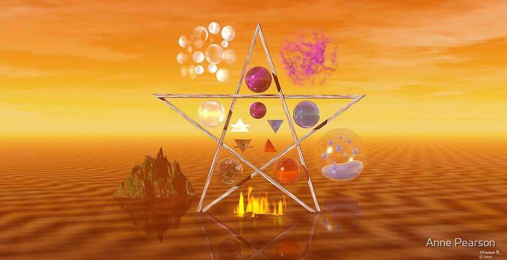 Elemental Pentagram by Anne Pearson
