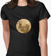 Moon on the man Women's Fitted T-Shirt