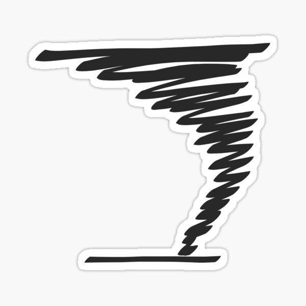 Scribble Twister Sticker