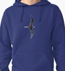 Galapagos Frigate in flight Pullover Hoodie
