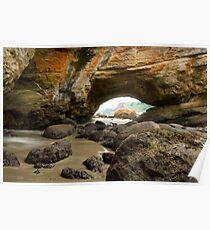 Cave at Newport, Oregon Poster