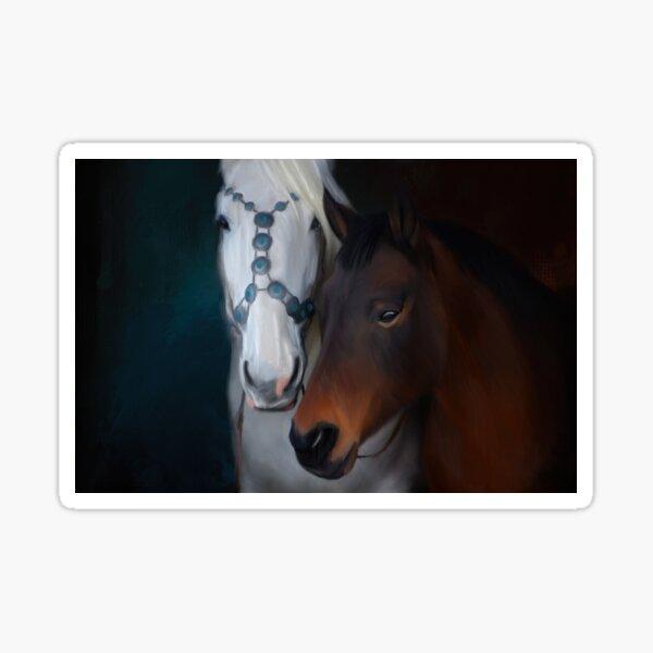 Painted horse portrait Sticker
